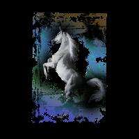 Pferde. ein weißes Pferd Geschenk