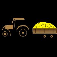Traktor mit Anhänger   Tractor and Trailer