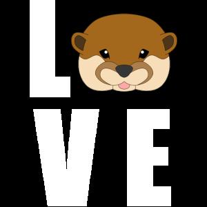 Love und ein Otter.