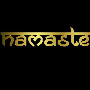 Namaste - gold