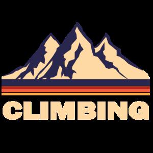 Klettern in den Bergen retro Geschenk
