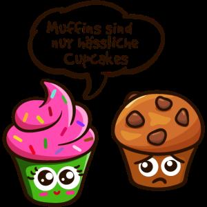 Muffins Cupcakes Lustiger Spruch Naschen Backen