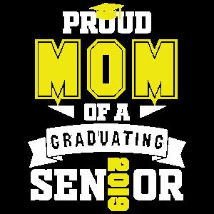 Stolze Mutter eines graduierenden T-Shirts