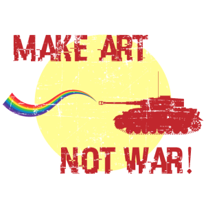 Kunst Regenbogen Krieg Frieden Geschenk