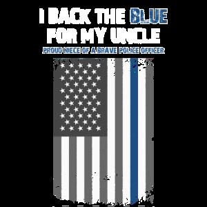 Ich unterstütze das Blau für meinen Onkel Dünne blaue Linie