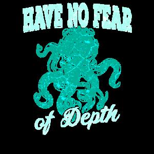 Kraken Octopus Tintenfisch Tiefsee Taucher Ozean