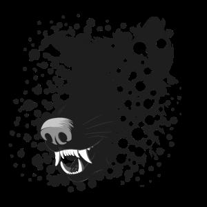 Fleischfresser-Reißzähne - Hyänen-Tiermotiv