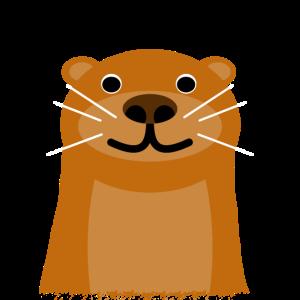 Otter Trendtier süßer Otterkopf