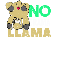 No Drama Llama Geist Tierlama Geschenk Hemd