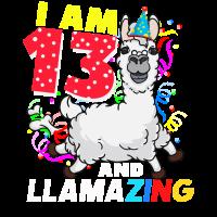 Ich bin 13 und llamazing! Geburtstag Geschenk