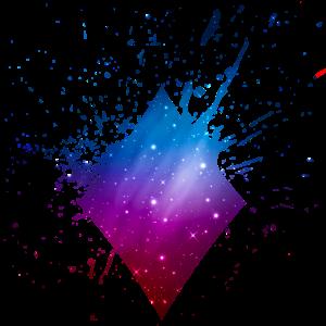 Poker Karten Karo Symbol Universum Galaxy