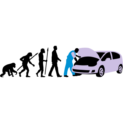 evolution_kfz_mechaniker_122013_b_3c - Evolution des Mannes Kfz Mechaniker - Werkstatt,Reparatur,PKW,Meister,Mechatroniker,Lehrling Geselle,Kfz-Mechaniker,Handwerker,Auto