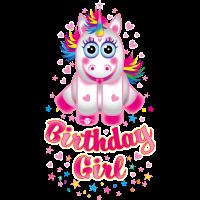 01 Einhorn Birthday Girl Unicorn
