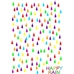 Glückliche Regen