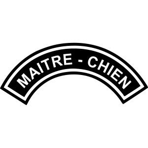 Ecusson Maitre-Chien demilune