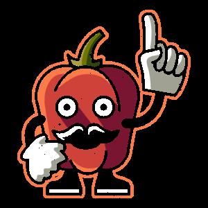 Mr. Paprika, geschenk schnurrbart gemüse vegan