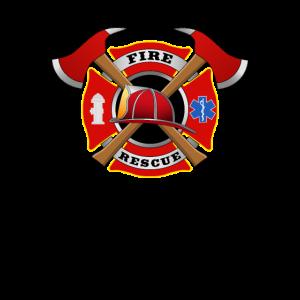 Fire Rescue Kinder Oberteil Feuerwehr Abzeichen