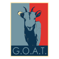 goat - blue & red