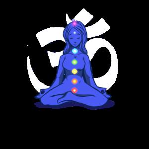 7 Chakren, Yoga Spruch Meditation OM Geschenk