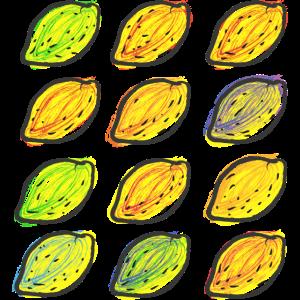 12 Zitronen freie Grafik