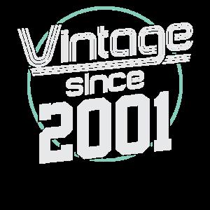 Vintage Retro Jahrgang 2001 20 Geburtstag Geschenk