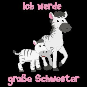 Ich werde große Schwester - Zebra - Zebras