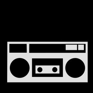 Gammel bærbar radio