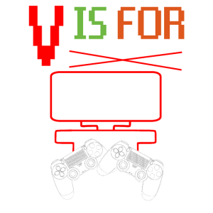 V ist für Valentine Videospiel-T-Shirt