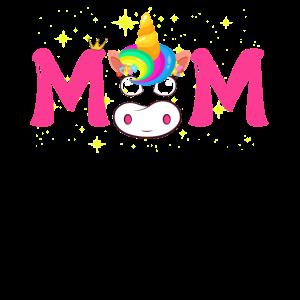 Einhorn-Mutter-Geburtstags-Shirt der Frauen