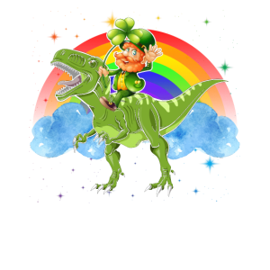 Dinosaurier-Kobold-Regenbogen-Hemd St. Patricks