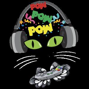 Nettes Ginger Cat Gaming Gamer Cat T-Shirt