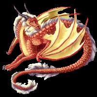 red pretty dragon