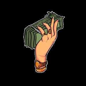 Money Geld fancy Rapper Gold Dollar Euro