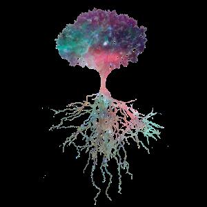 Kosmos Baum Univerum Alles mit Allem verbunden