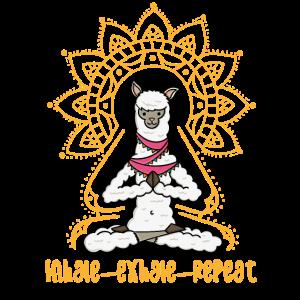 Alpaka Yoga Shirt lustiges Lama Motiv