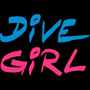 Dive Diving Girl Tauchen Shirt