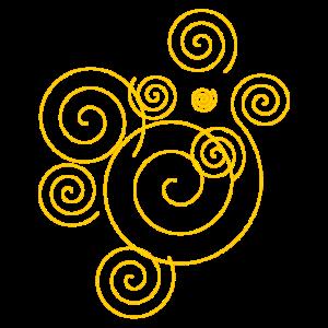 Gelbe Spiralen