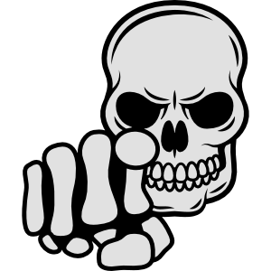 Zeigefinger Totenkopf