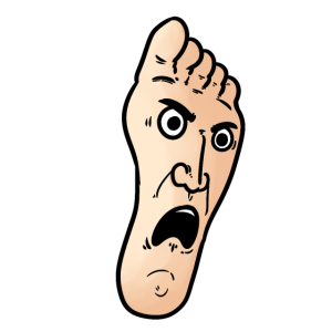 Foot face , Fuß Gesicht