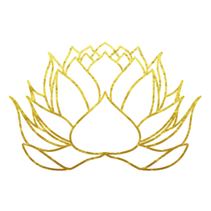 Blume des Lebens Lotosblume Gold Geschenk
