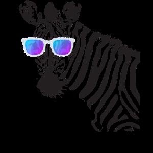 Zebra mit Sonnenbrille Shirt Witziges Sommer Zebra