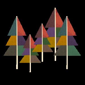 abstrakt Wald geometrie kunst