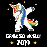 Große Schwester Einhorn 2019 Geburt Geschenk