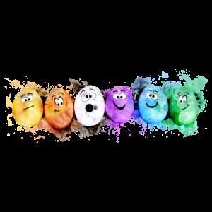 Rainbow Egg Gesichter für Kinder zu Ostern