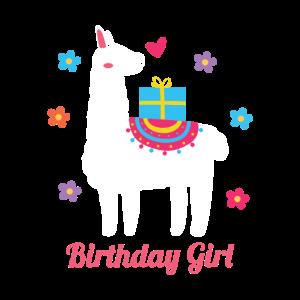 Birthday Girl Lama Tierliebhaber Geschenkidee