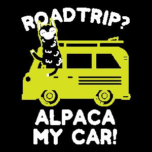 Road Trip Alpaca My Car Tier Geschenkidee