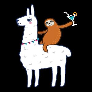 Sloth and Llama Tierliebhaber Geschenkidee