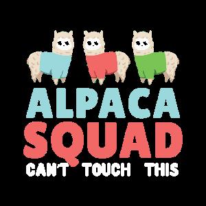 Alpaka Squad Tier Lustig Geschenkidee