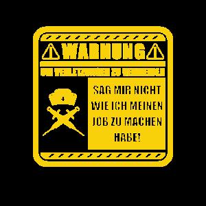 Krankenschwester Warnung