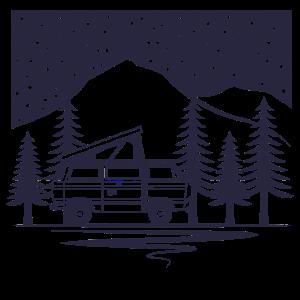 Camper unter dem Sternenhimmel